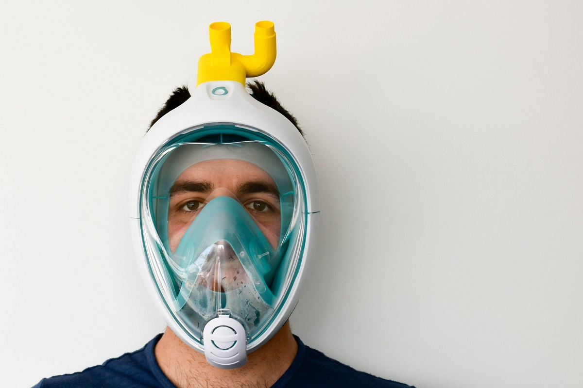 Maschere Decathlon diventano ventilatori