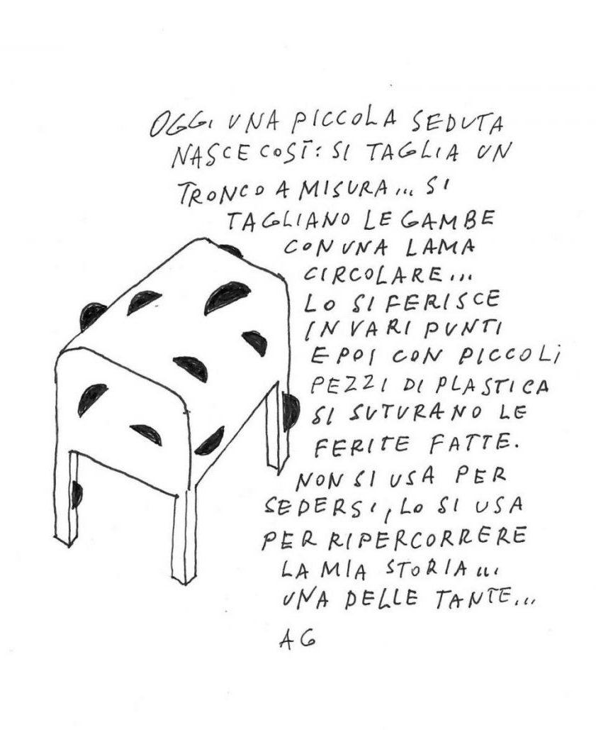 Uno sgabello. Di Alessandro Guerriero