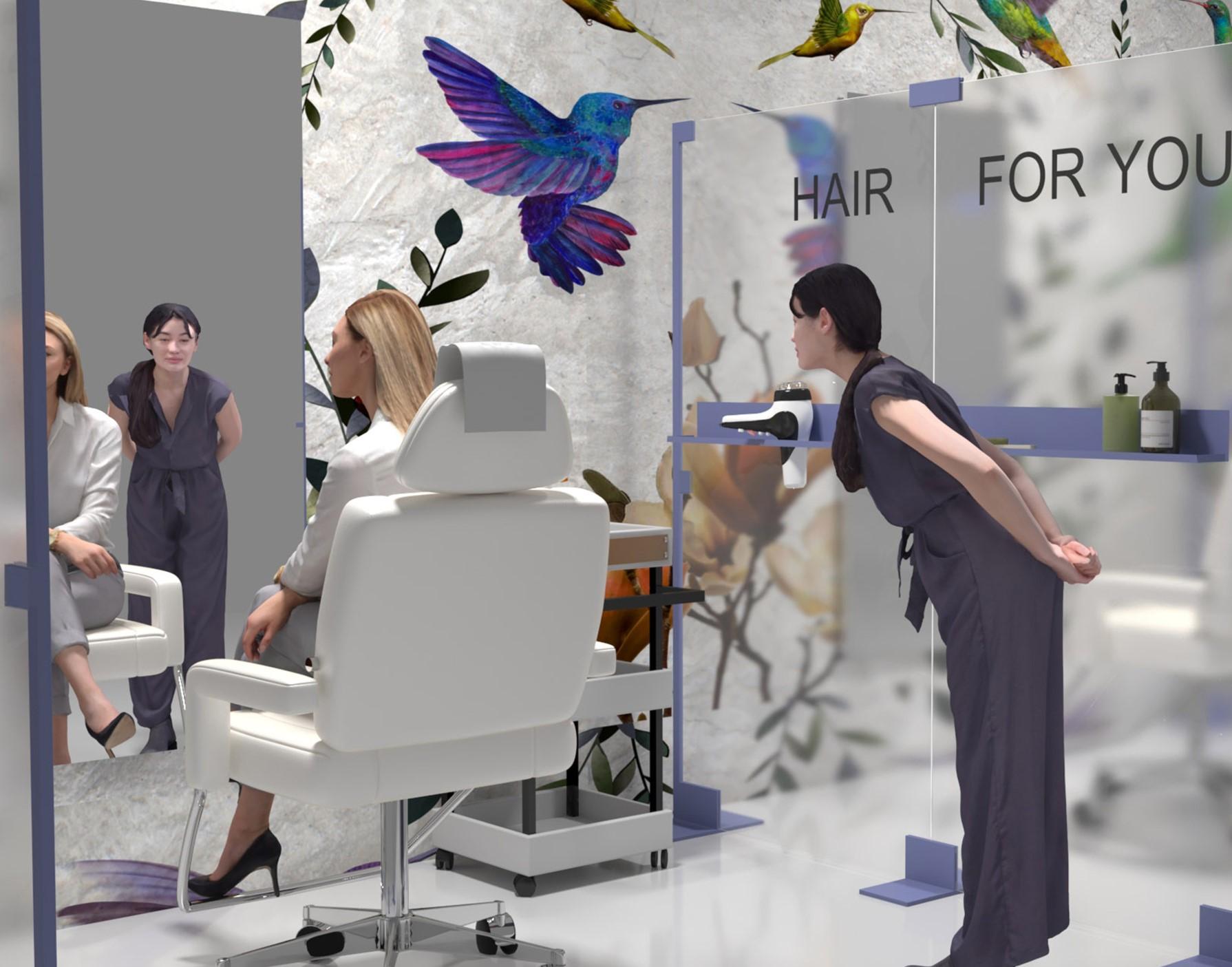 Pannelli per parrucchieri, palestre e ristoranti